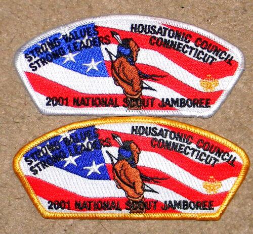 Housatonic Council 2001 JSP set of 2 - White Bdr & Yellow Bdr