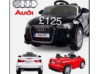 Licensed Audi A3 ride on car with remote control music and lights (leeds) only £125