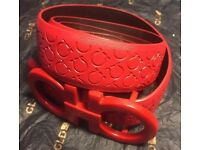 Red ferragamo belt