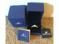 BRAND NEW IN BOX SWAROVSKI CRYSTAL RING & CERTIFICATE OF AUTHENTICITY