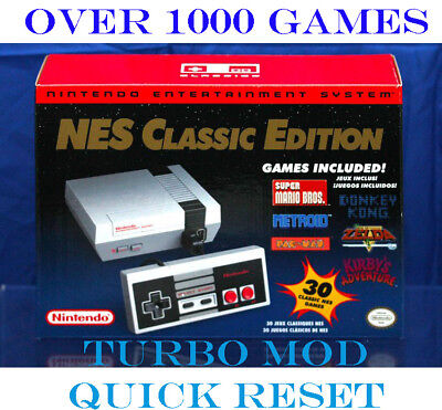 Nintendo NES Classic Editiion Mini Console 1,000+ Games SNES Genesis Authentic