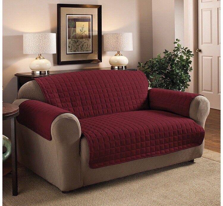 Sofa protectors - 3seater/2seater/1seat Burgundy