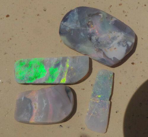 Mintabie opal Specimen Lapidary Multi Colour 30ct