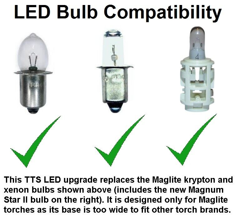 Maglite Led Upgrade Tts Conversion Cree Xp G2 Bulb For 3 4
