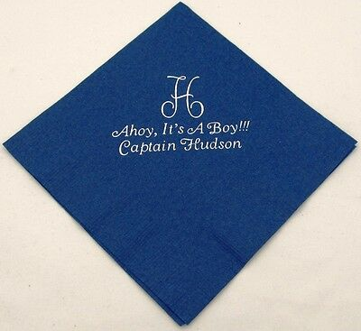 Personalized Party Napkins (125 Personalized birthday beverage napkins custom printed birthday party)