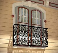 WROUGHT IRON RAILINGS (HAND RAILING, FRENCH BALCONY,..)