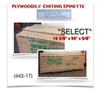 """(443-17)  PLYWOODS """"SELECT"""" CHITING ÉPINETTE  2.99$ /ch."""