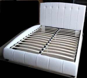 Brand NEW #204 Queen size White Faux Leather Bed Frame