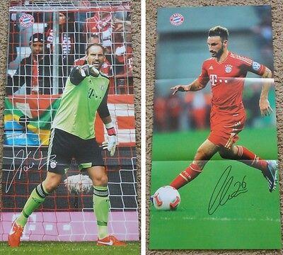 Fc Bayern München Poster Diego Contento und Tom Starke