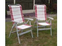 2x Dukdalf Aluminium Folding Chairs