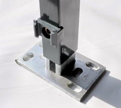 Fußplatte zum Aufschrauben für Pfosten 60x40 Adapter Gitterzaun Doppelstabzaun