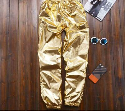 en Silber Gold Kostüm Nachtclub Hosen Übergröße Bühne S-8XL (Plus Größe Harem Kostüm)