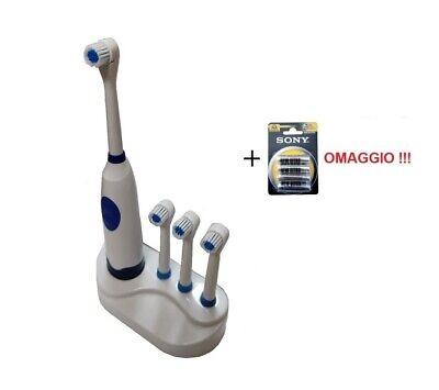 Spazzolino Elettrico con Testa Rotante Igiene Dentale Denti Igiene Orale
