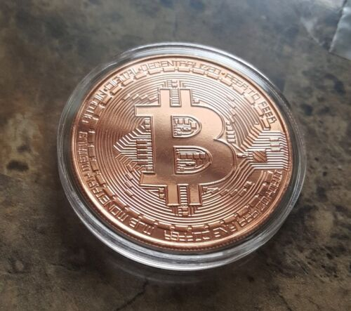 BITCOIN 1OZ PURE COPPER PHYSICAL BITCOIN PROOF COIN - FAST SHIP!! - USA ! ! !