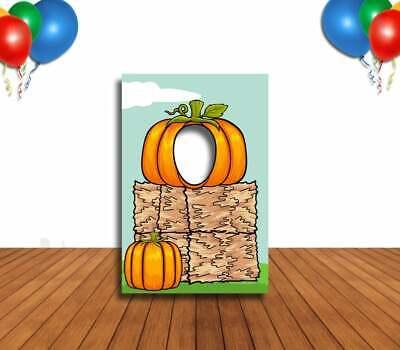 Face Cutout Photo Props (Pumpkin Patch Face Cutout, Hole in Face, Party Selfie Photo)