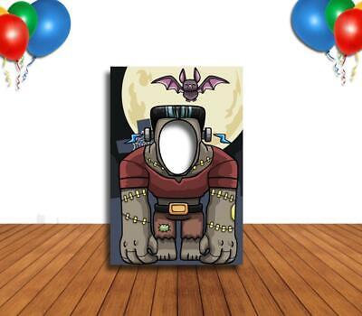 Face Cutout Photo Props (Frankenstein & Bat Face Cutout, Hole in Face, Party Selfie Photo Prop,)