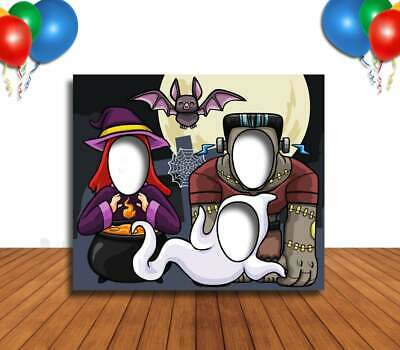 Face Cutout Photo Props (Witch Ghost & Monsters Cutout, Hole in Face, Party Selfie Photo Prop,)