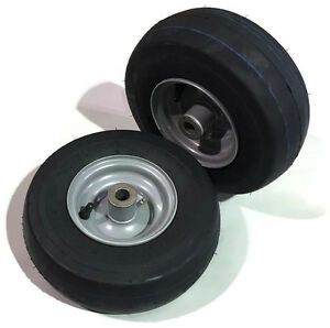 Set of 2 Wheel Tire Assembly 11 x 4.10-5 Front Caster Zero Turn Mower 581199701