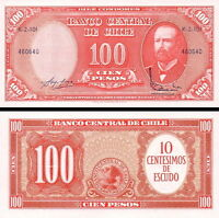 Cile - Chile 10 Centimos On 100 Pesos 1961 Fds - Unc -  - ebay.it