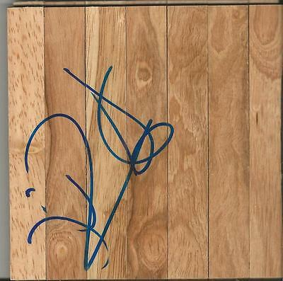 Johan Petro Signed 6X6 Floorboard Sonics Hawks Nets