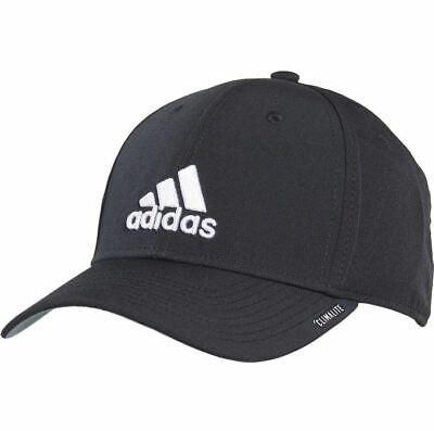 adidas Men's Size L XL Gameday II Stretch Fit Hat Cap Black White Climalite NWT