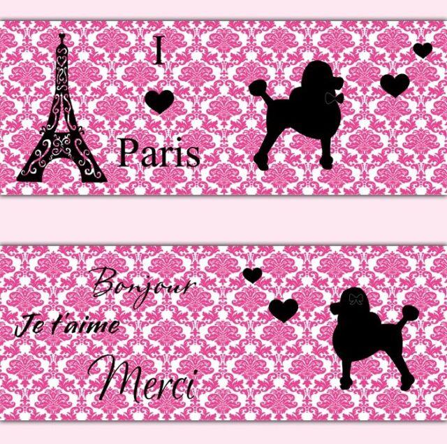Pink Paris Poodle Damask Wallpaper Border Wall Decals Baby Girl Nursery  Decor Part 95