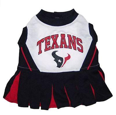 Pets First Houston Texans NFL Cheerleader Dog Costume Medium 14