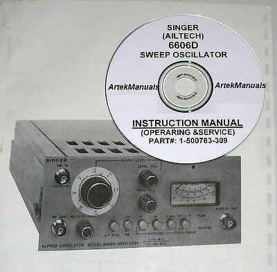Singer Ailtech 6606d Sweep Oscillator Operating Service Manual