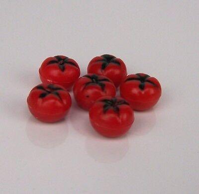 6 St. Miniatur Tomaten. 1 cm. Krippenminiatur,  Weihnachtskrippe, Puppenhaus