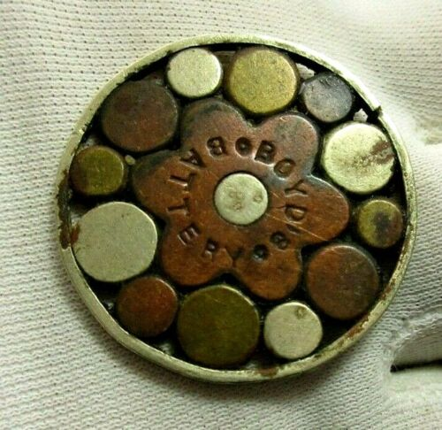 1878 BOYDS BATTERY ~ HEALING QUACK MEDICAL DEVICE ~ PENDANT / MEDALLION
