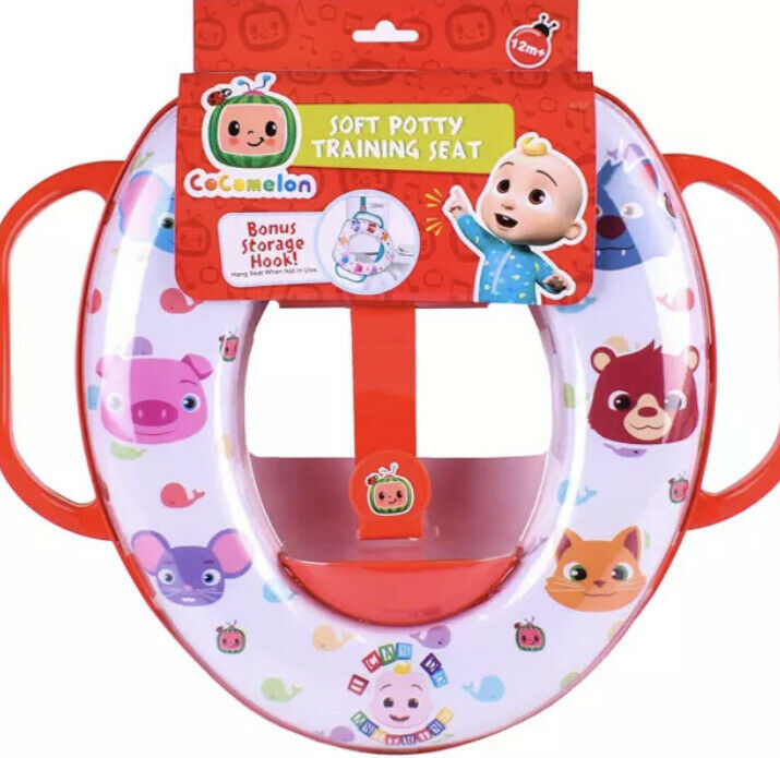 CoComelon Soft Padded Potty Training Toilet Seat Kids Toddler Trainer Easy Clean