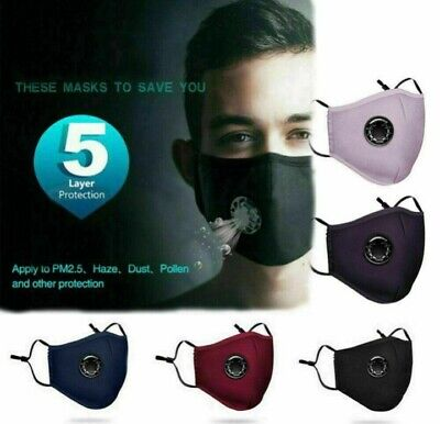 New Style Reusable Air Purifying Face Mask With Carbon Filter Breathing Valves