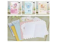 30 x New baby pink blue yellow greeting cards luxurious and beautiful!