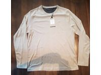 Brave Soul Men's Long Sleeve T-shirt - Size Medium - Tan Colour - Brand New With Tags