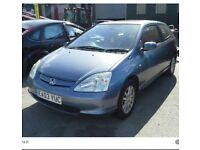 2003 Honda Civic Ztec for Sale £495