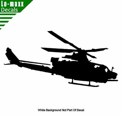 Apache Military Attack Helicopter High Quality Various Sizes Die Cut Vinyl Decal