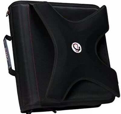 Case-it X-hugger 2-inch Round Ring Zipper Binder With Book Holder Black X-351