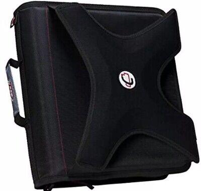 Case-it X-hugger 2-inch Round Ring Zipper Binder With Book Holder Black X-351