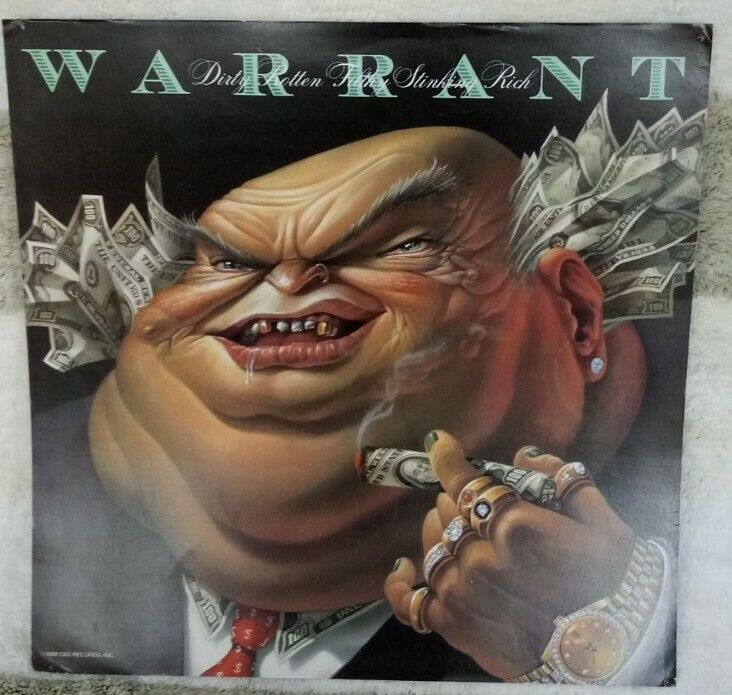 Warrant Dirty Rotten Filthy Stinking Rich Vintage Double Sided Poster Flat