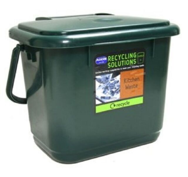 5l kitchen compost caddy addis food waste re cycling bin. Black Bedroom Furniture Sets. Home Design Ideas