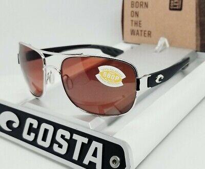 COSTA DEL MAR palladium silver/copper COCOS POLARIZED 580P sunglasses! NEW! (Costa Del Mar Cocos)
