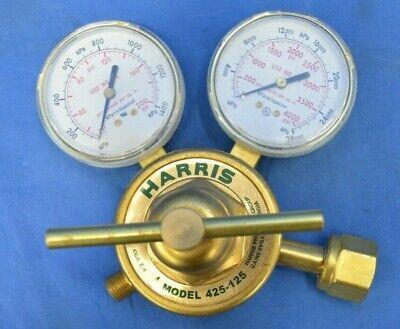 Harris Gas Regulator Model 425-125 Single Stage Regulator Cga E-4