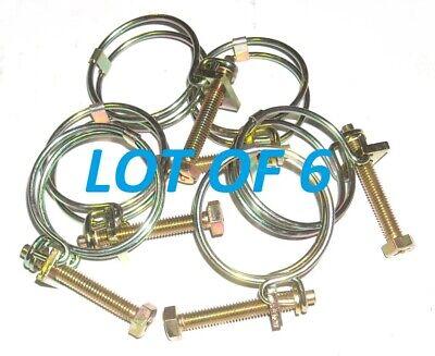 Lot Of 6 5340-01-361-8372 Isuzu 9097151060 Hose Clamp 15kw Mep Generator