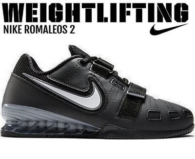 huge discount f367d 12541 Nike Men s Romaleos 2 Weightlifting Training Shoes Sneakers Trainers Size 18