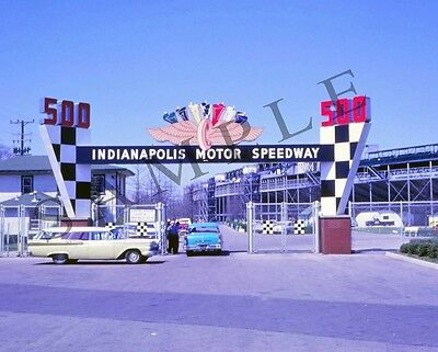 "1960's Indianapolis Motor Speedway 500 Entrance Indy Racing 8""x 10"" Photo"