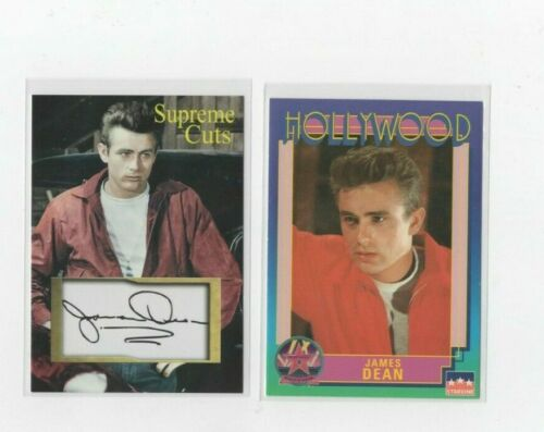 """JAMES DEAN Supreme Cuts 2021 FACSIMILE AUTOGRAPH """"SAMPLE"""" GLOSSY & 91 HOLLYWWOD"""