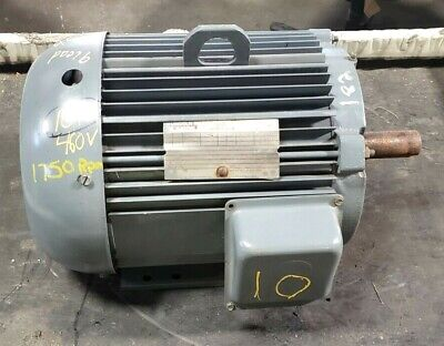 Lincoln 10 Hp Ac Electric Motor 460 Vac 3 Phase 1750 Rpm 1 38 Shaft Af4p10t61