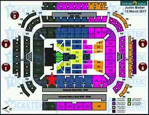 3 x Justin Bieber A Reserve - hard copy seated tickets Birkdale Redland Area Preview