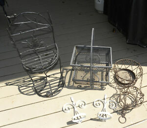 (5) Metal Planters for Deck Patio or Gazebo