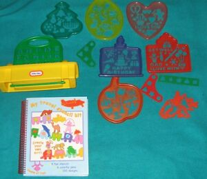 MY Travelling stencil Kit book and Little tikes Stencils